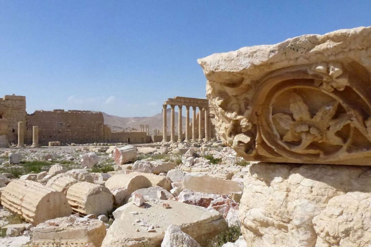 Part of the ancient city of Palmyra, after government troops recaptured the Unesco world heritage site from ISIS on March 27, 2016.
