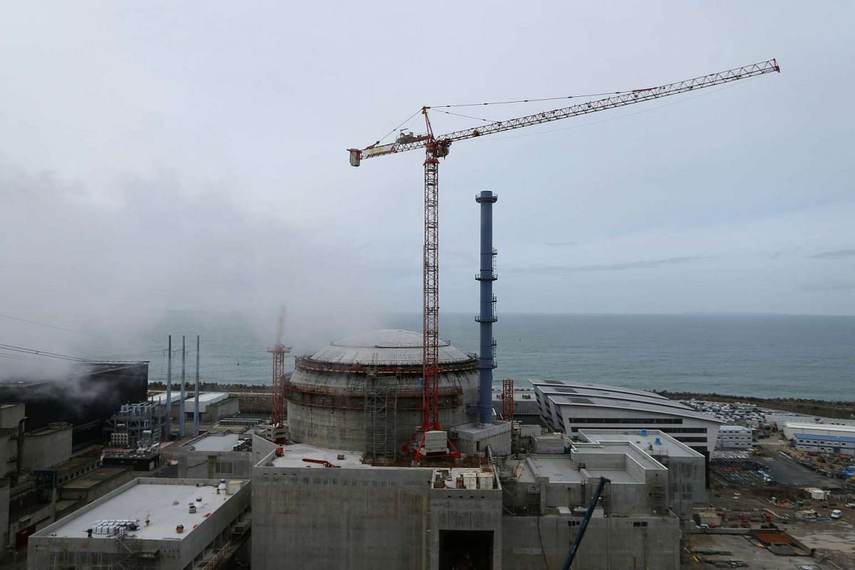 The construction site of the European Pressurized Reactor project (EPR) is seen in Flamanville, on March 30, 2016.