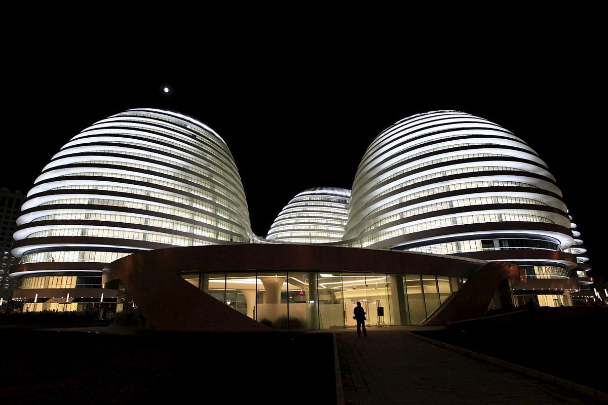 Galaxy Soho, Beijing (2012): Perhaps the most space-age-looking among Hadid's works, the 18-storey retail, office and entertainment colossus boasts interior courts intended to reflect traditional Chinese architecture.