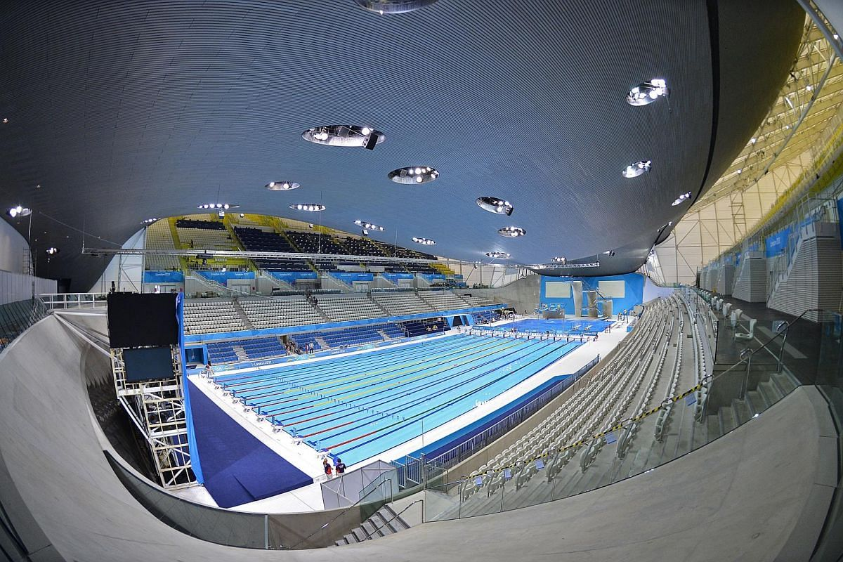 London aquatics centre, Stratford (2012): Originally built for the 2012 Olympics at a cost of £269 million, this cathedral-like space houses two 50m pools and seats for 2,500 spectators. Its wave of a roof rests on just three concrete supports, and