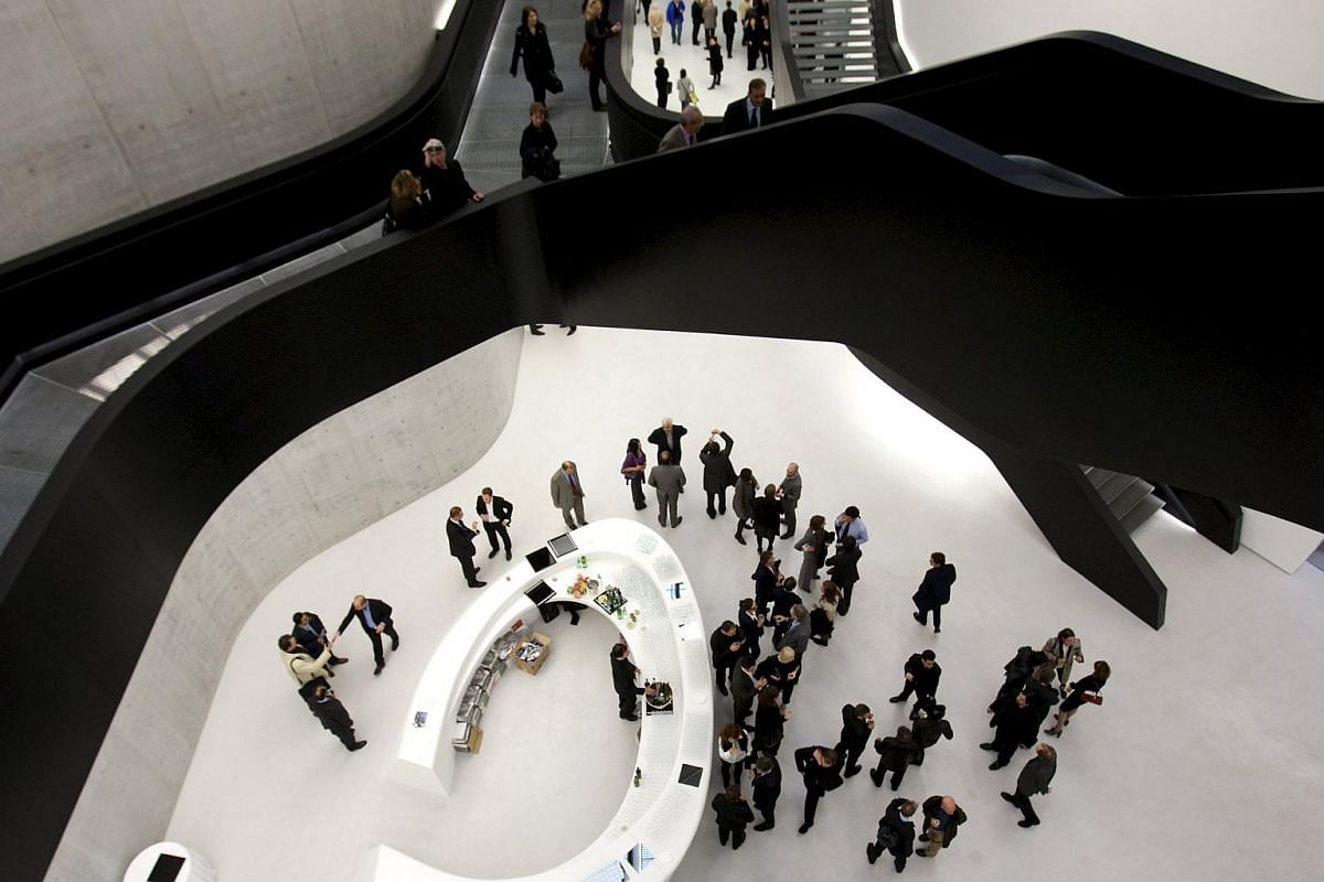 Guests at the Maxxi museum of contemporary art and architecture in Rome in 2009.