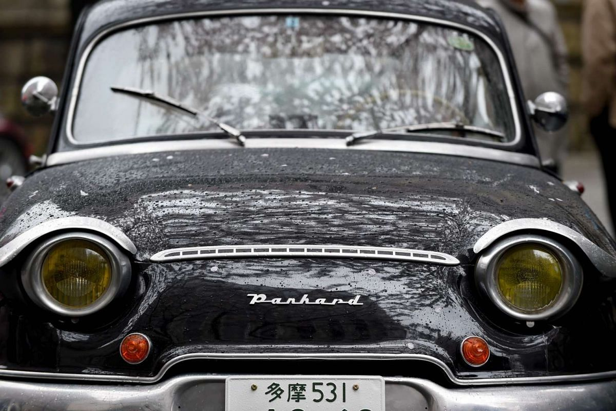 A 1960 Panhard PL17 vintage car is on display during the Japan Classic Automobile 2016 event in Tokyo on April 3, 2016.