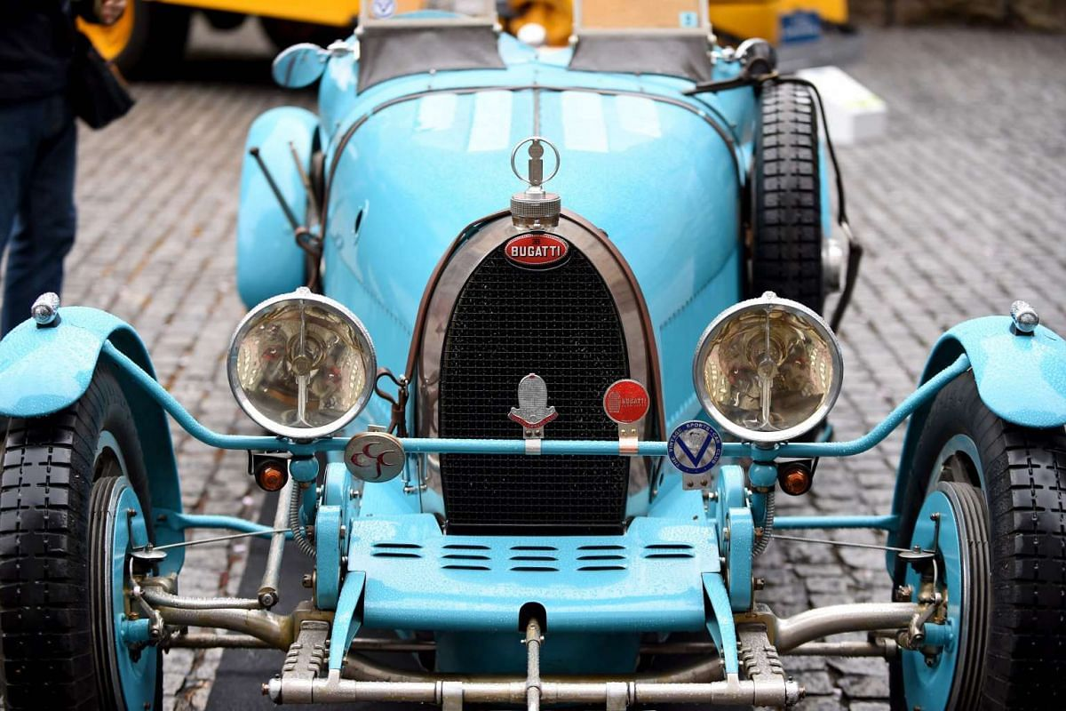 A 1928 Bugatti T37A vintage car is on display during the Japan Classic Automobile 2016 event in Tokyo on April 3, 2016.