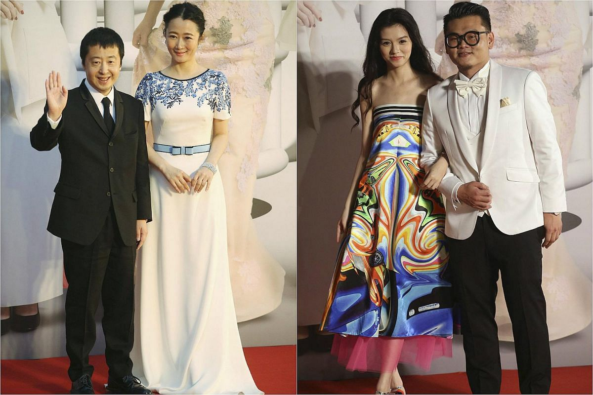 From left: Chinese director Jia Zhangke and his actress wife Zhao Tao, with Chinese actress Jessie Li and Hong Kong actor Michael Ning.