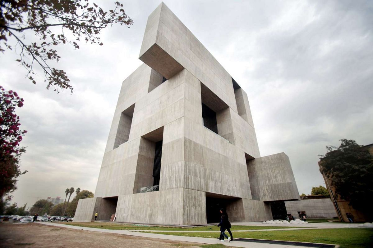 The Innovation Centre Anacleto Angelini designed by Chilean architect Alejandro Aravena at San Joaquin campus in Catholic University of Chile in Santiago de Chile, Chile, April 5, 2016. Alejandro Aravena was awarded the Pritzker Prize on 04 April. PH