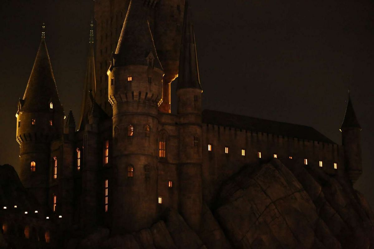 A general view of Hogwarts Castle at The Wizarding World Of Harry Potter at Universal Studios Hollywood, California on April 5, 2016.