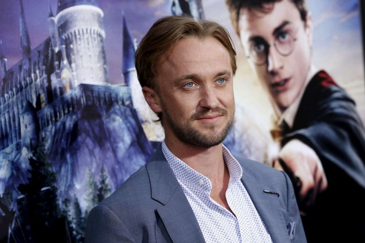 Actor Tom Felton at The Wizarding World Of Harry Potter at Universal Studios Hollywood, California on April 5, 2016.
