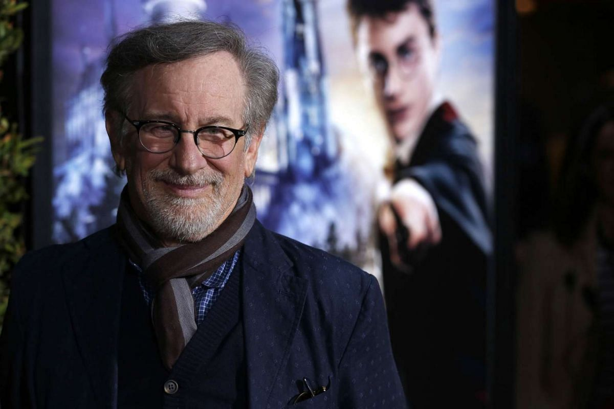 Director Steven Spielberg at The Wizarding World Of Harry Potter at Universal Studios Hollywood, California on April 5, 2016.