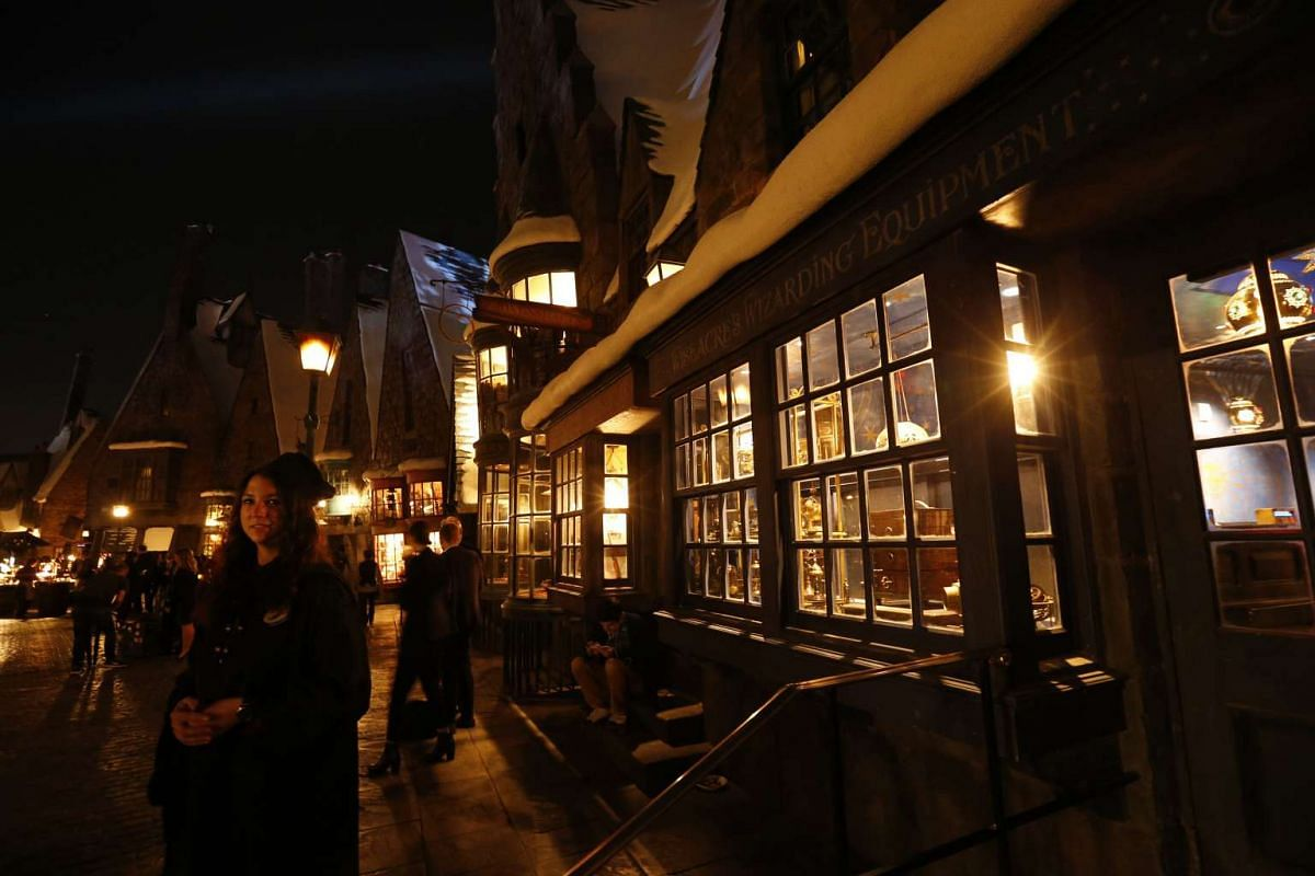 A general view of The Wizarding World Of Harry Potter at Universal Studios Hollywood, California on April 5, 2016.