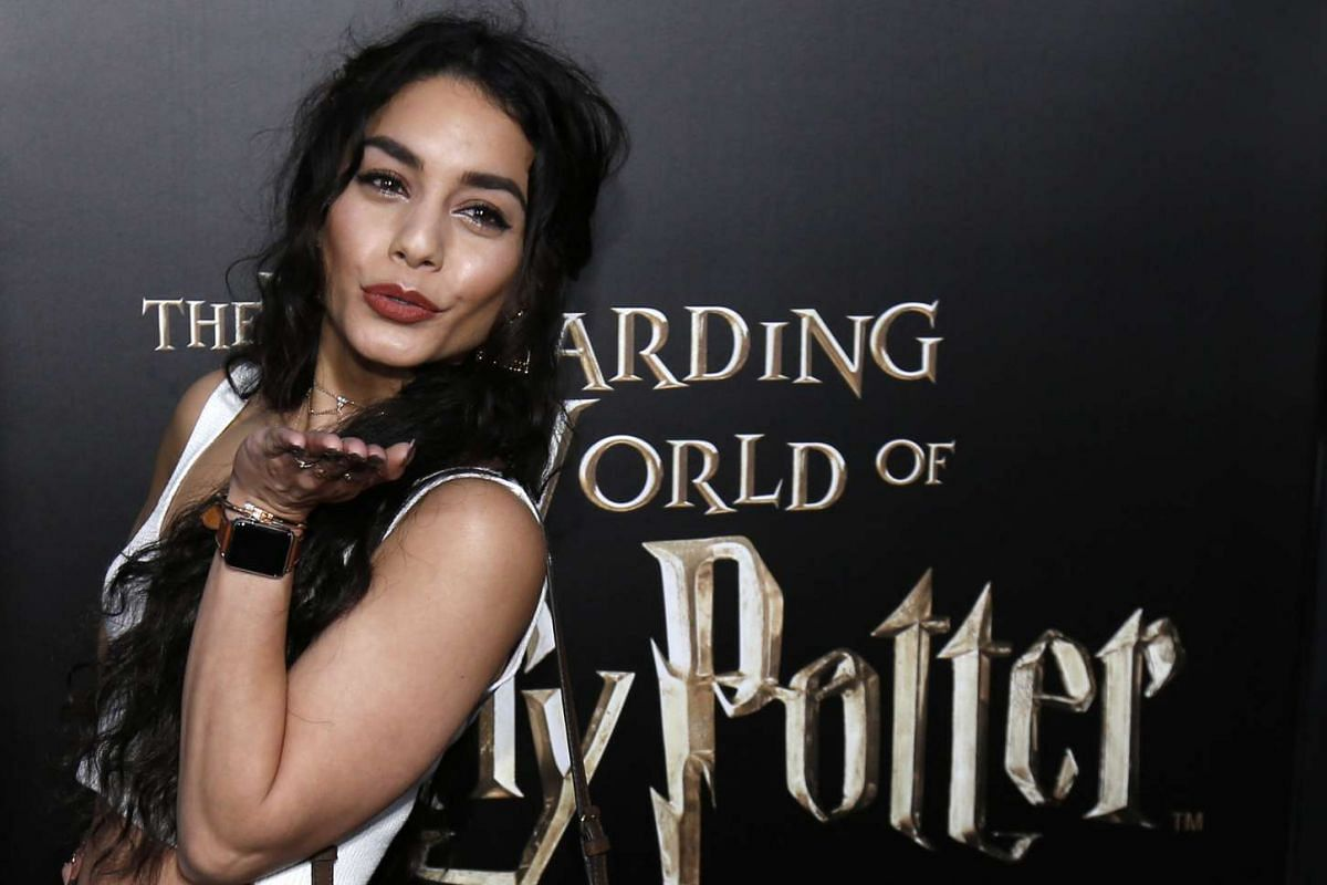 Actress Vanessa Hudgens at The Wizarding World Of Harry Potter at Universal Studios Hollywood, California on April 5, 2016.