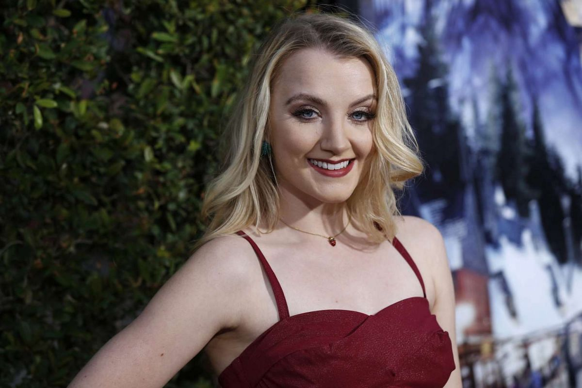 Actress Evanna Lynch at The Wizarding World Of Harry Potter at Universal Studios Hollywood, California on April 5, 2016.