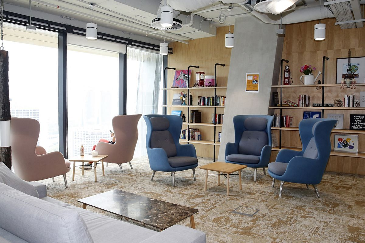 One of Facebook's lounge areas.