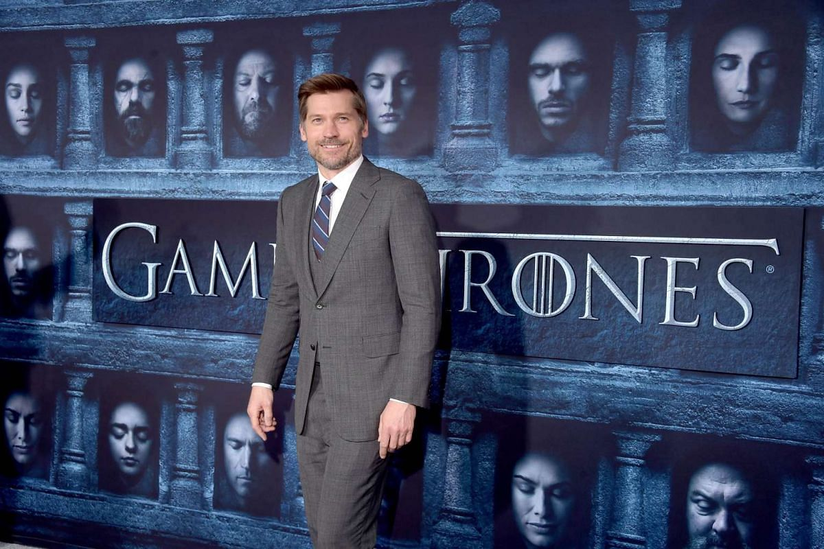 Nikolaj Coster-Waldau attends the premiere of HBO's Game Of Thrones Season 6 at TCL Chinese Theatre on April 10, 2016 in Hollywood, California.