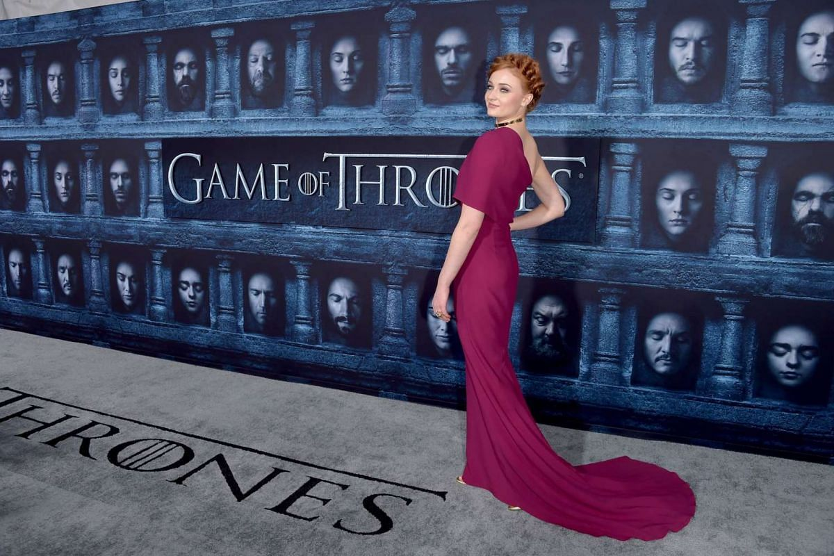 Sophie Turner attends the premiere of HBO's Game Of Thrones Season 6 at TCL Chinese Theatre on April 10, 2016 in Hollywood, California.