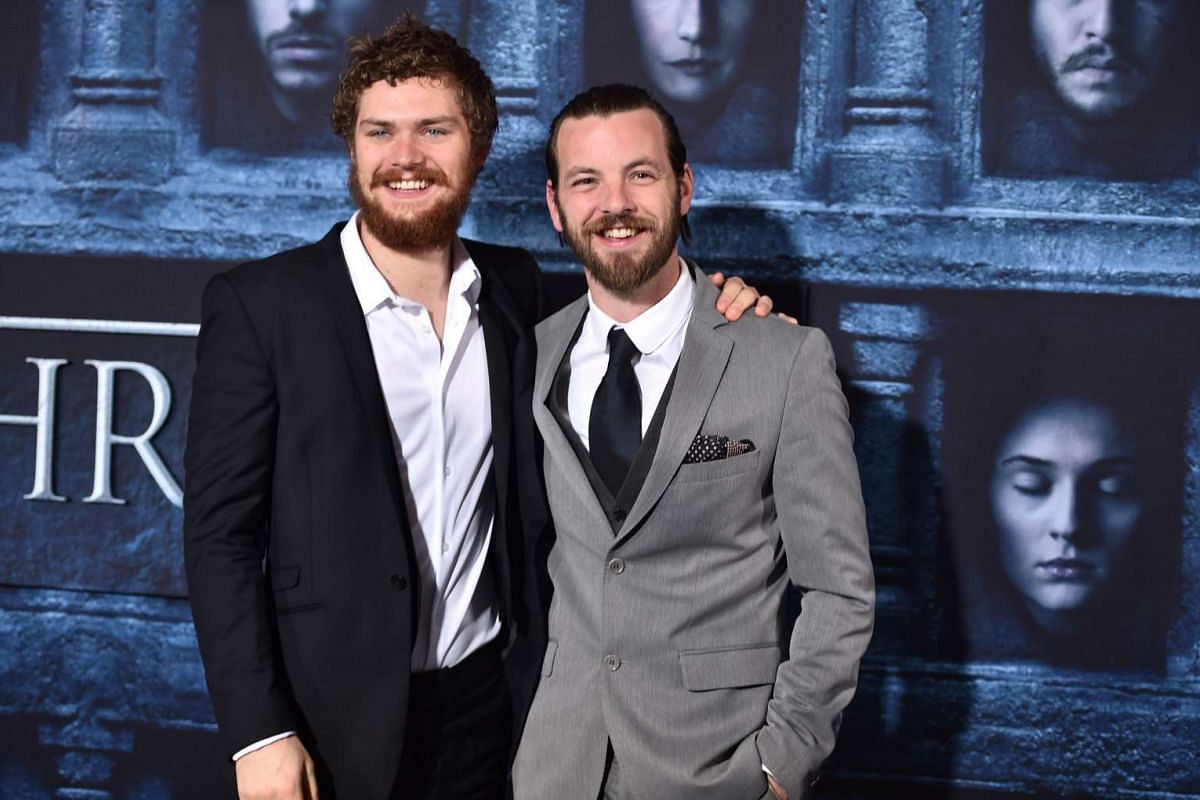 Finn Jones (left) and Gethin Anthony attend the premiere of HBO's Game Of Thrones Season 6 at TCL Chinese Theatre on April 10, 2016 in Hollywood, California.