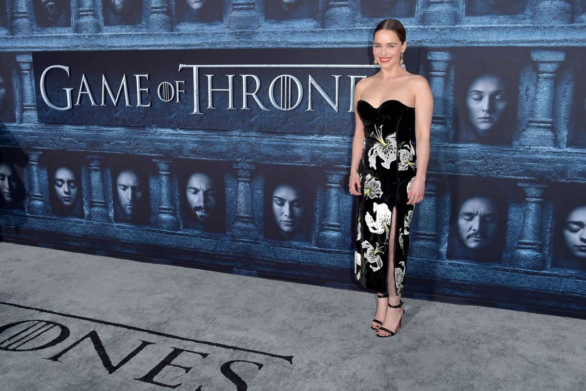 Emilia Clarke attends the premiere of HBO's Game Of Thrones Season 6 at TCL Chinese Theatre on April 10, 2016 in Hollywood, California.