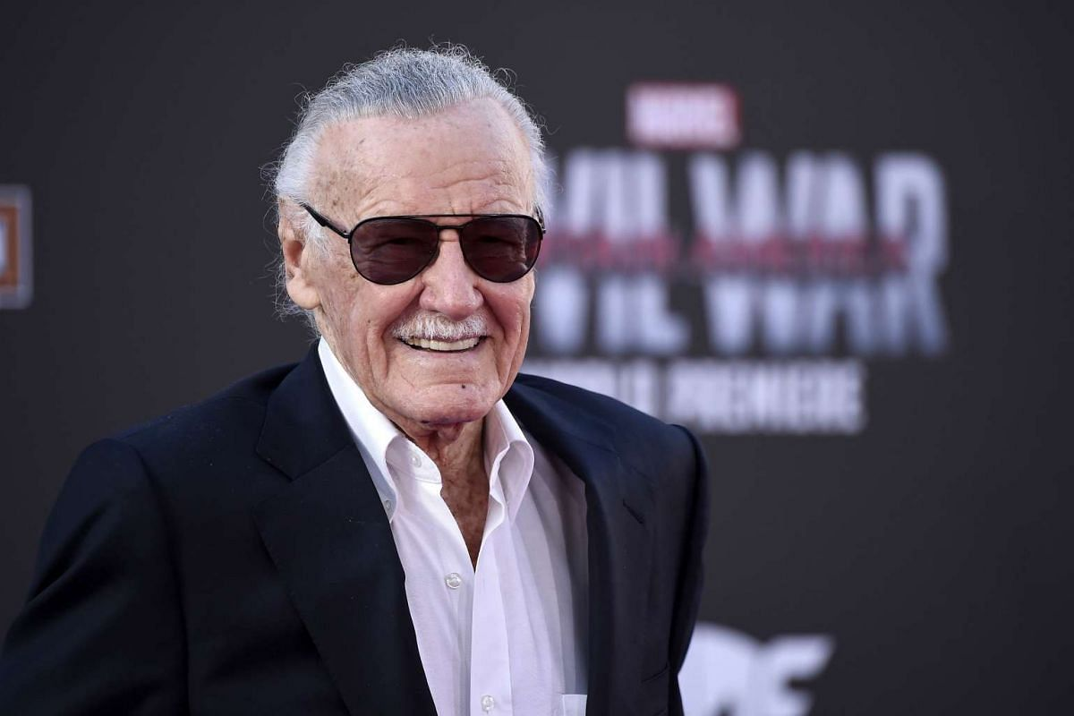 Stan Lee attending the premiere of Marvel's Captain America: Civil War at Dolby Theatre on April 12, 2016.