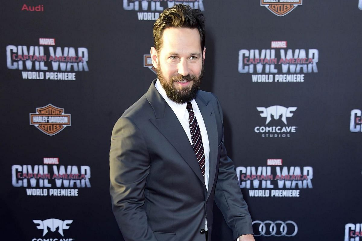 Actor Paul Rudd attending the premiere of Marvel's Captain America: Civil War at Dolby Theatre on April 12, 2016.