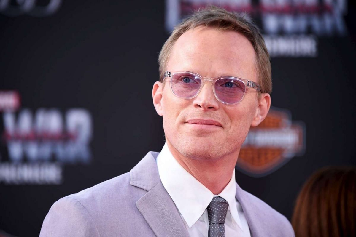 Cast member Paul Bettany attending the premiere of Captain America: Civil War in Los Angeles on April 12, 2016.