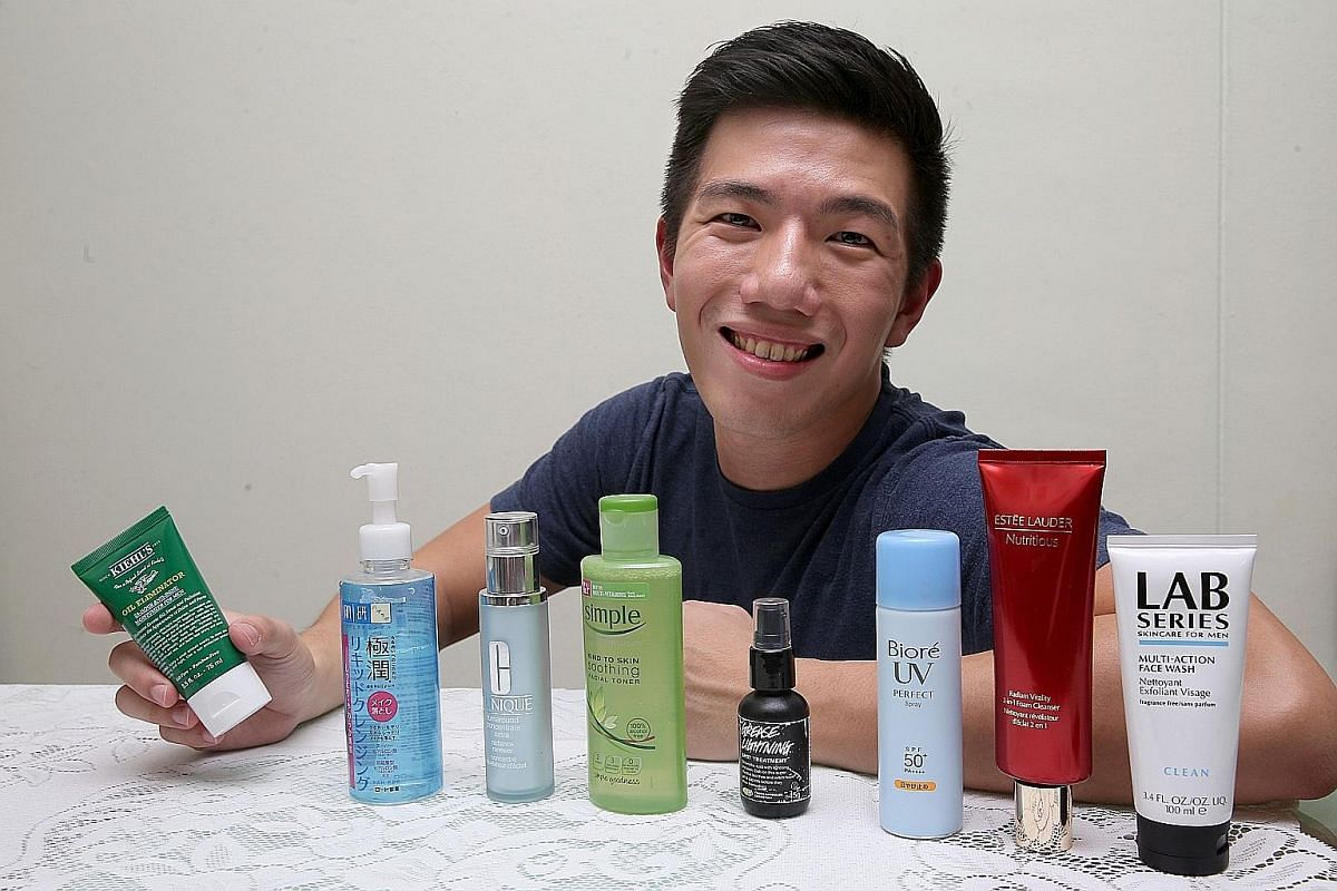 Business operations executive Situ Rongyao says taking care of his skin is a preventive measure against ageing.
