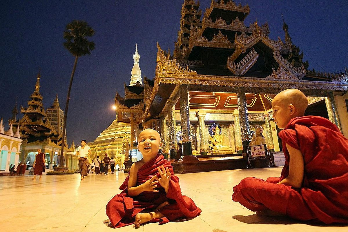 Ms Jolene Tan says the Shwedagon Pagoda is especially breathtaking in the evening, when its golden roof illuminates the sky and city.