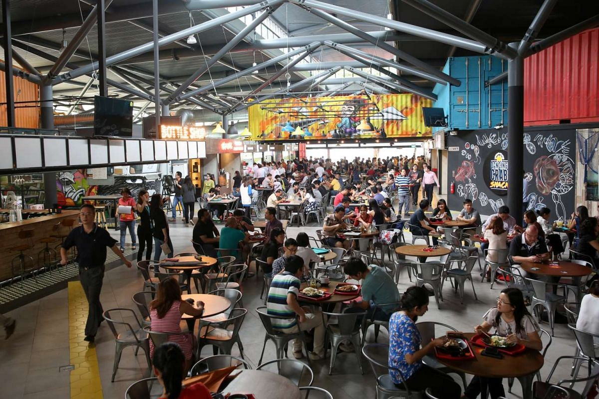 Timbre+ at one-north is packed at lunch and dinner.