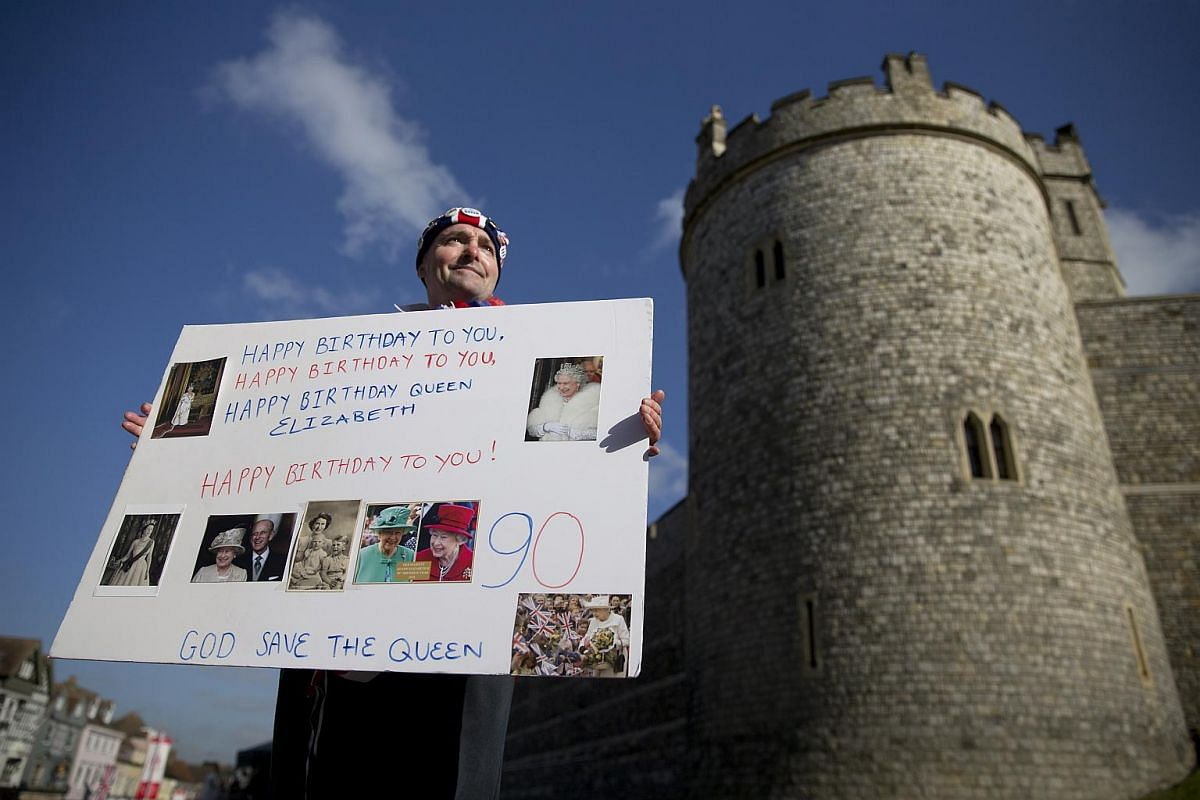 A Royal well-wisher waits to see Britain's Queen Elizabeth II in Windsor.