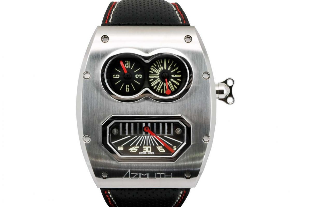 Azimuth rolls out playful designs in its latest range of watches, including Twin Turbo and Mr Roboto R2 (above).