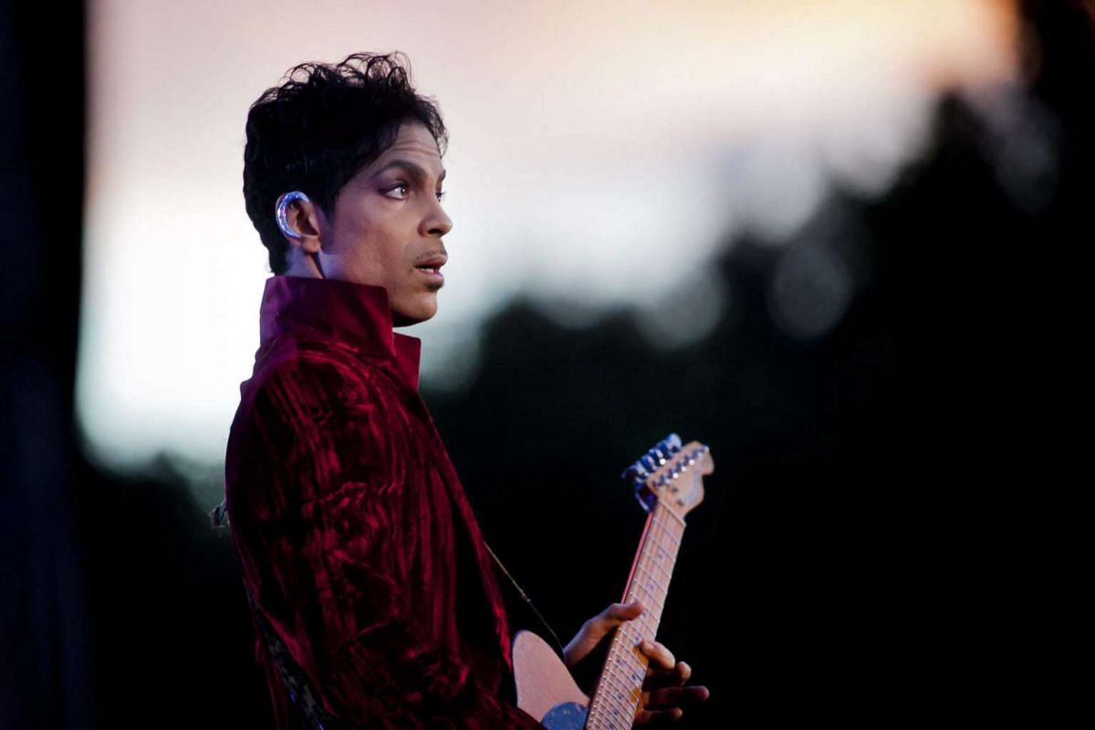 Prince during his concert at the Sziget Festival on the Shipyard Island, Hungary, on Aug 9, 2011.