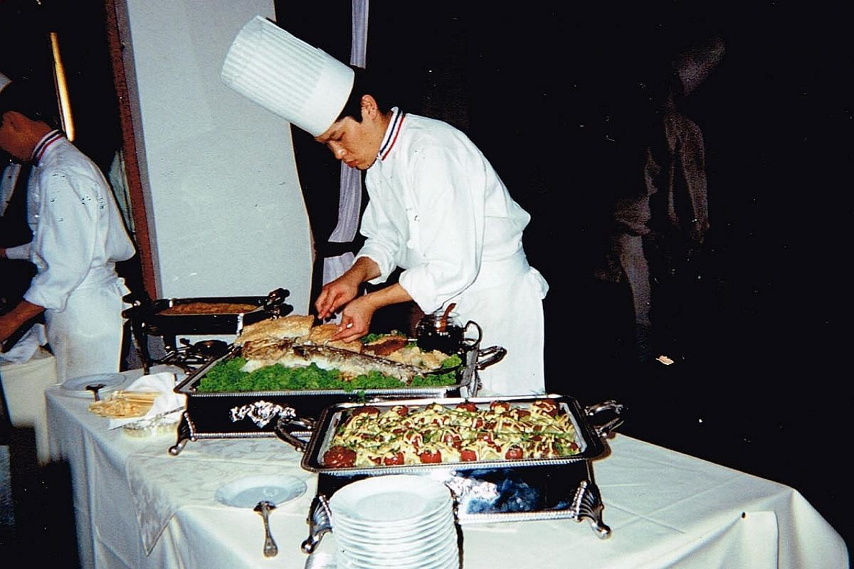 My life so far: Chef Keisuke Takeda learning to cook French cuisine at age 24 in 1993.