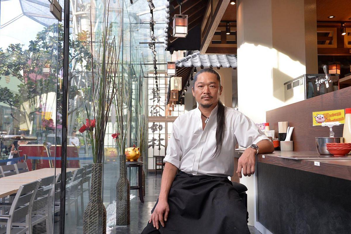 Chef Keisuke Takeda at Ramen Keisuke Lobster King in Clarke Quay, which opened in February.