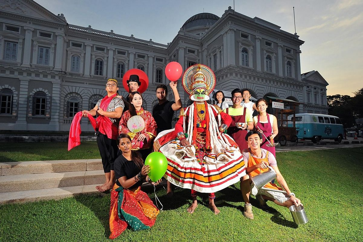 At the Singapore HeritageFest, there will be food stalls manned by young hawkers at the National Museum and performances by Nafa students and alumni as well as Indian performing arts company Bhaskar's Arts Academy.