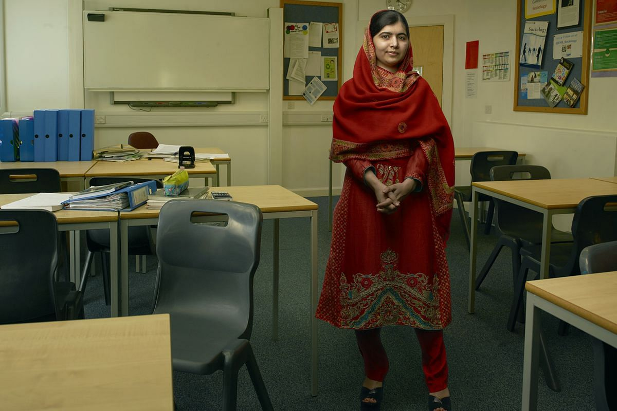 Nobel Prize-winning teenage activist Malala Yousafzai (above) is one of the women featured in Leibovitz's Women: New Portraits.