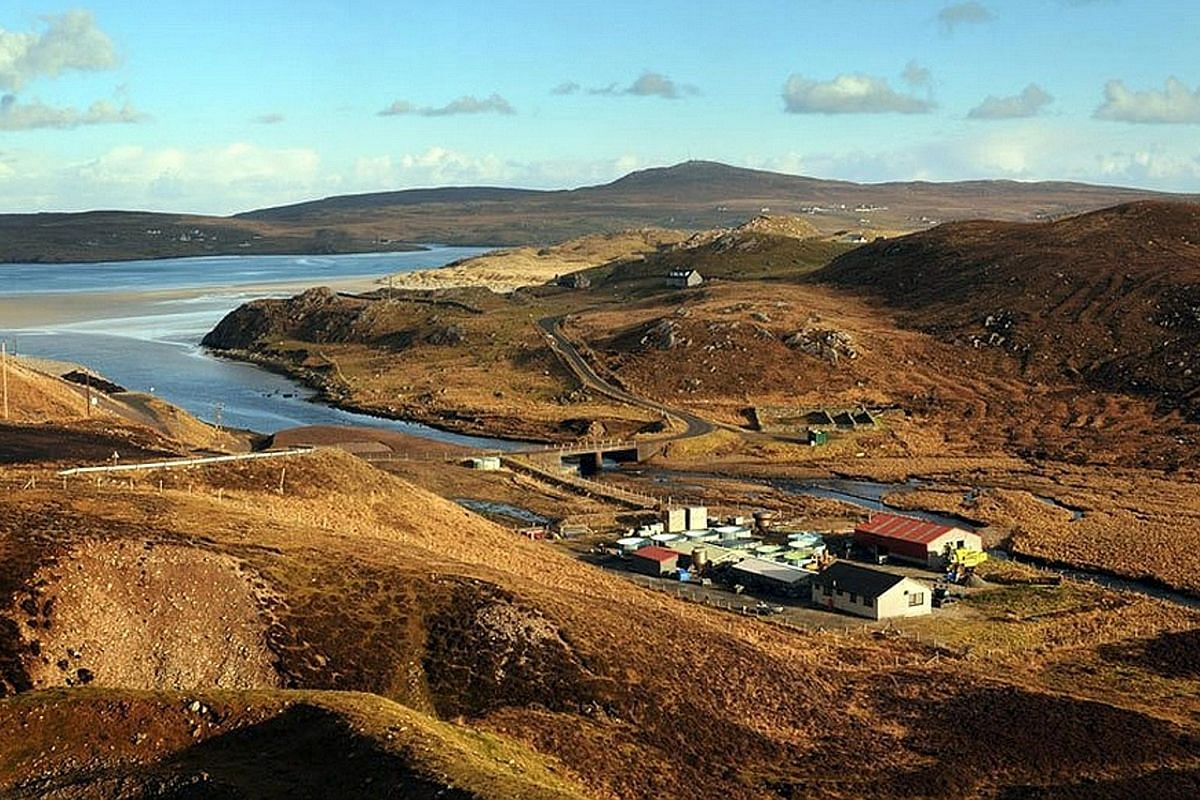 Abhainn Dearg distillery (left) is located in Lewis, the largest of the Outer Hebrides islands clustered off Scotland's west coast.