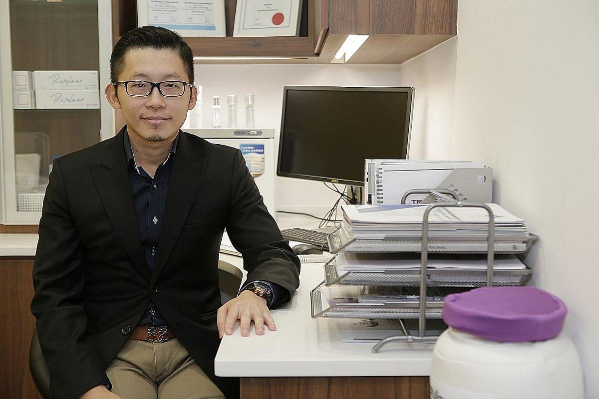 Dr Chiam Chiak Teng, 32, an aesthetic physician.