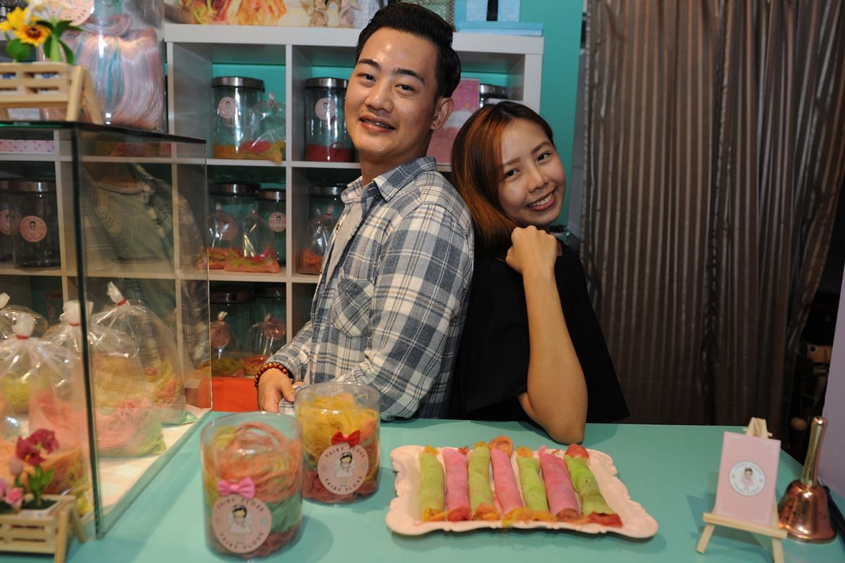 Fairyfloss co-owners Edwin Phng and Carilyn Ho.