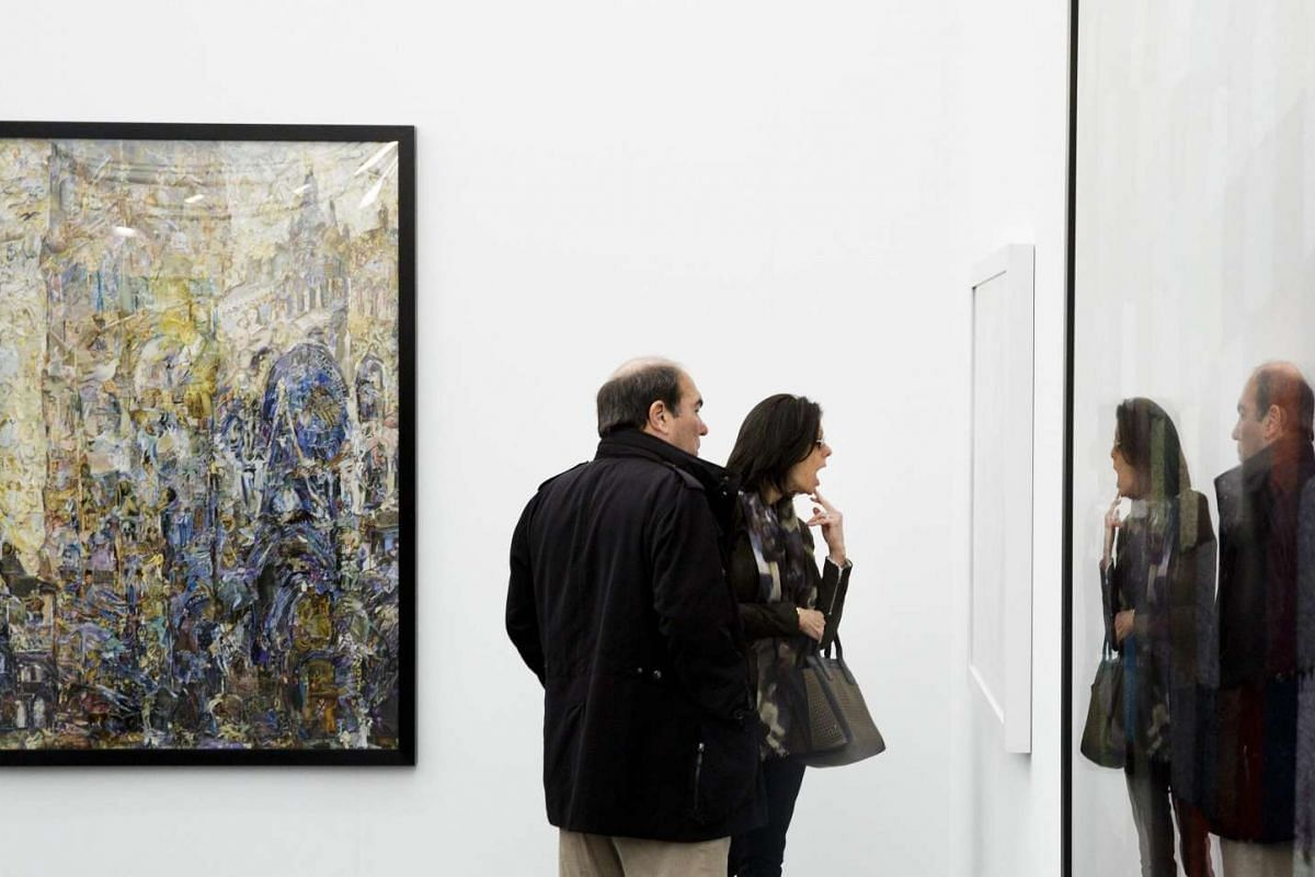 Works of art on display at the Frieze Art Fair on in New York, on May 5, 2016.