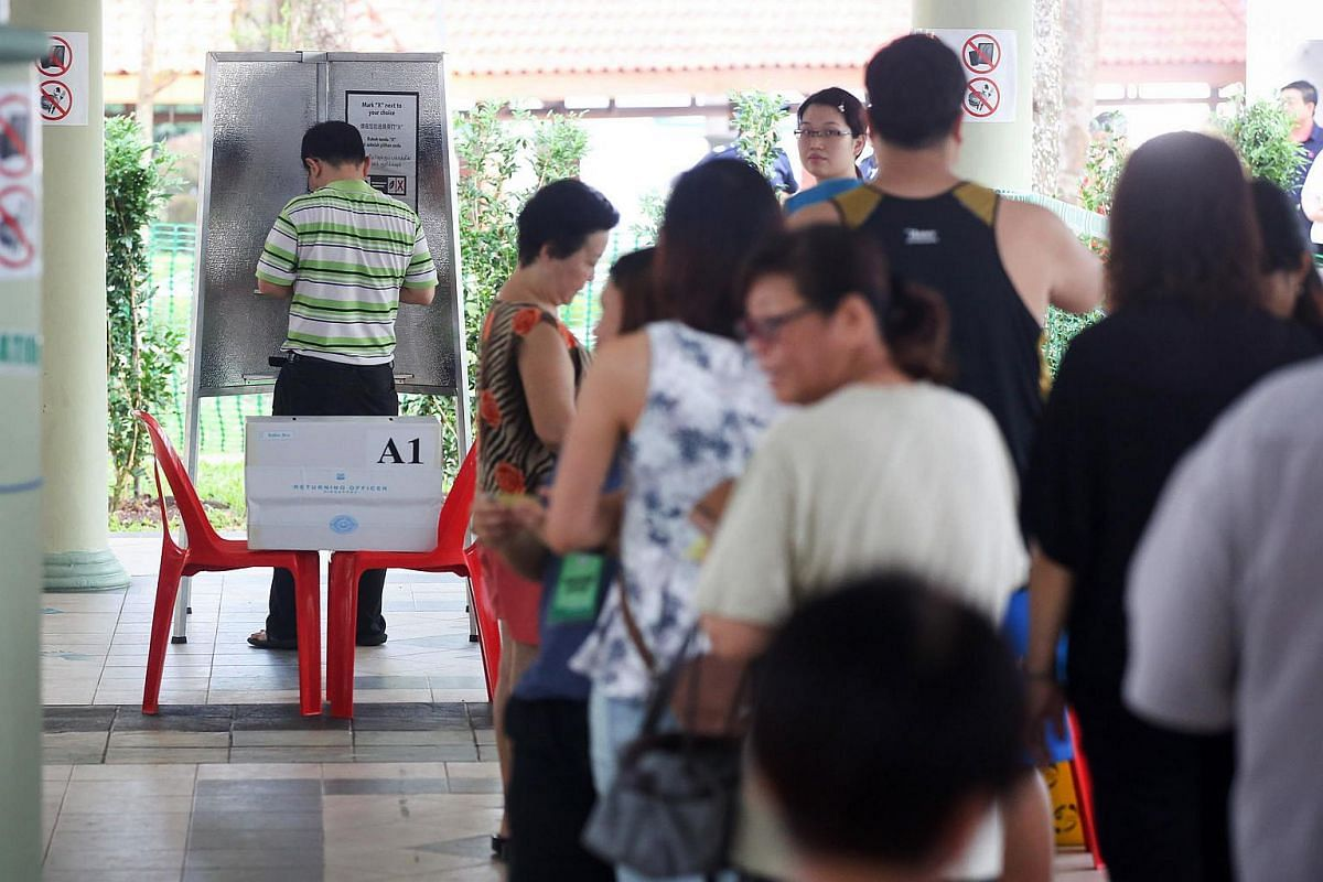Polling Day proceedings at by-election for Bukit Batok Constituency.
