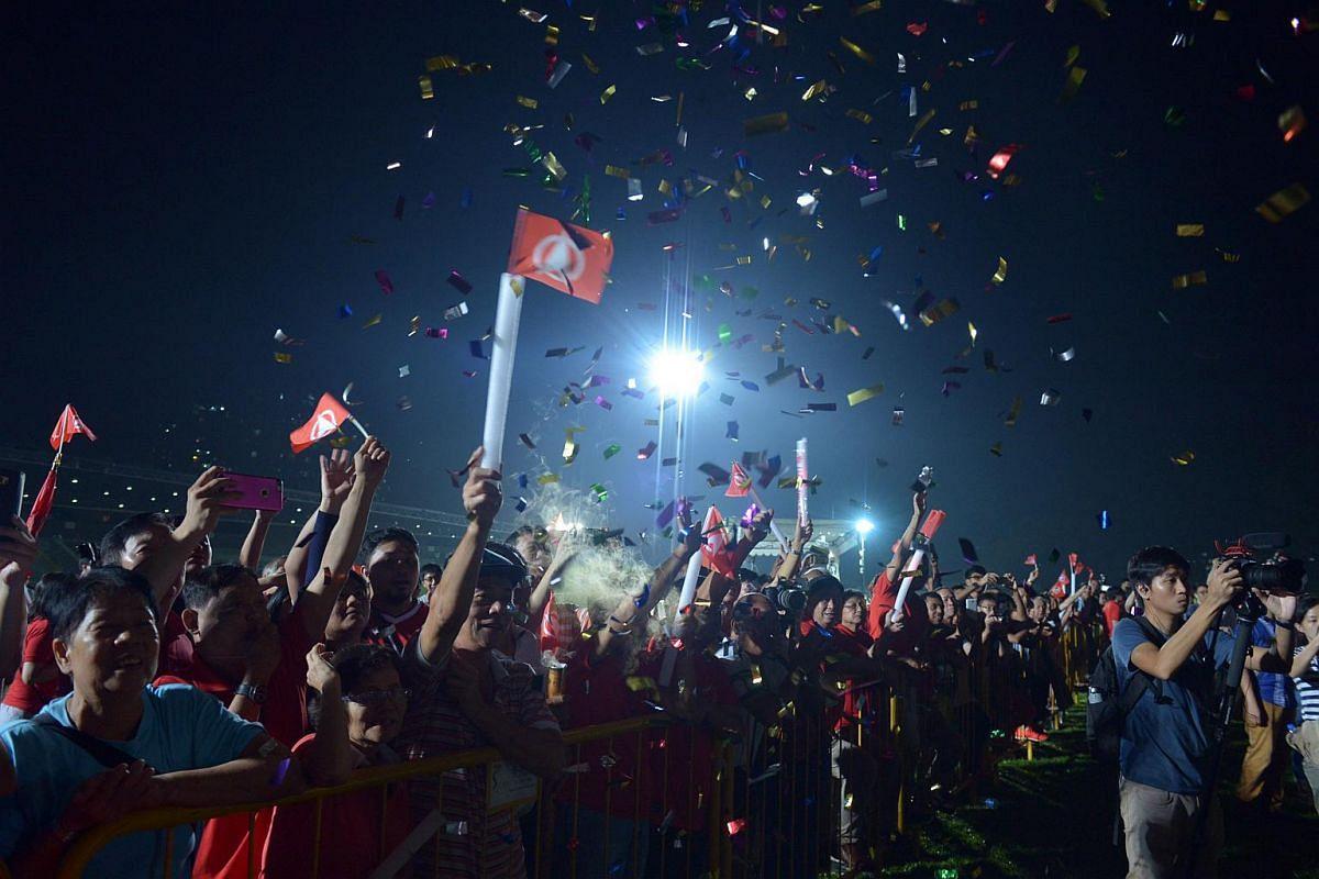 SDP supporters at Bukit Gombak stadium.