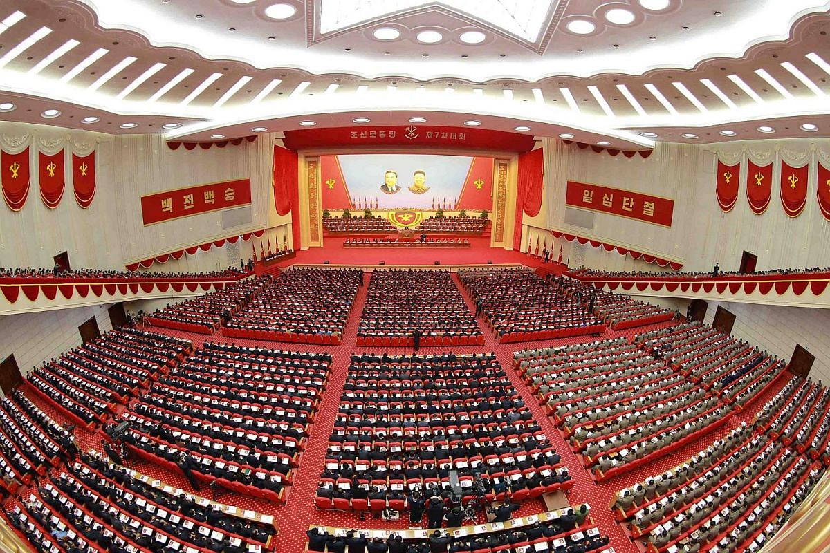 A general view shows the Workers' Party Congress in Pyongyang.
