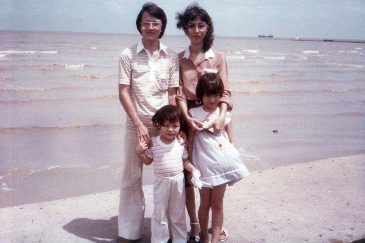 My life so far: As a child, Mr Darren Chen and his family (above) visited seaside towns such as Port Dickson and Mersing.