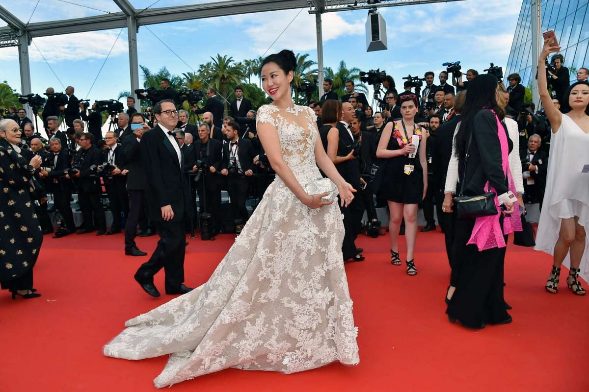 Chinese actress Zuo An Xiao arriving for the screening of Money Monster at the 69th Cannes Film Festival on May 12.