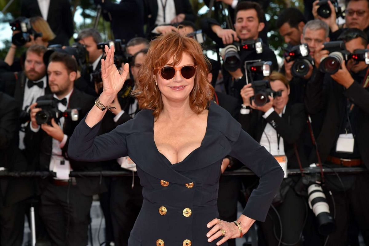 American actress Susan Sarandon arriving for the screening of Money Monster.