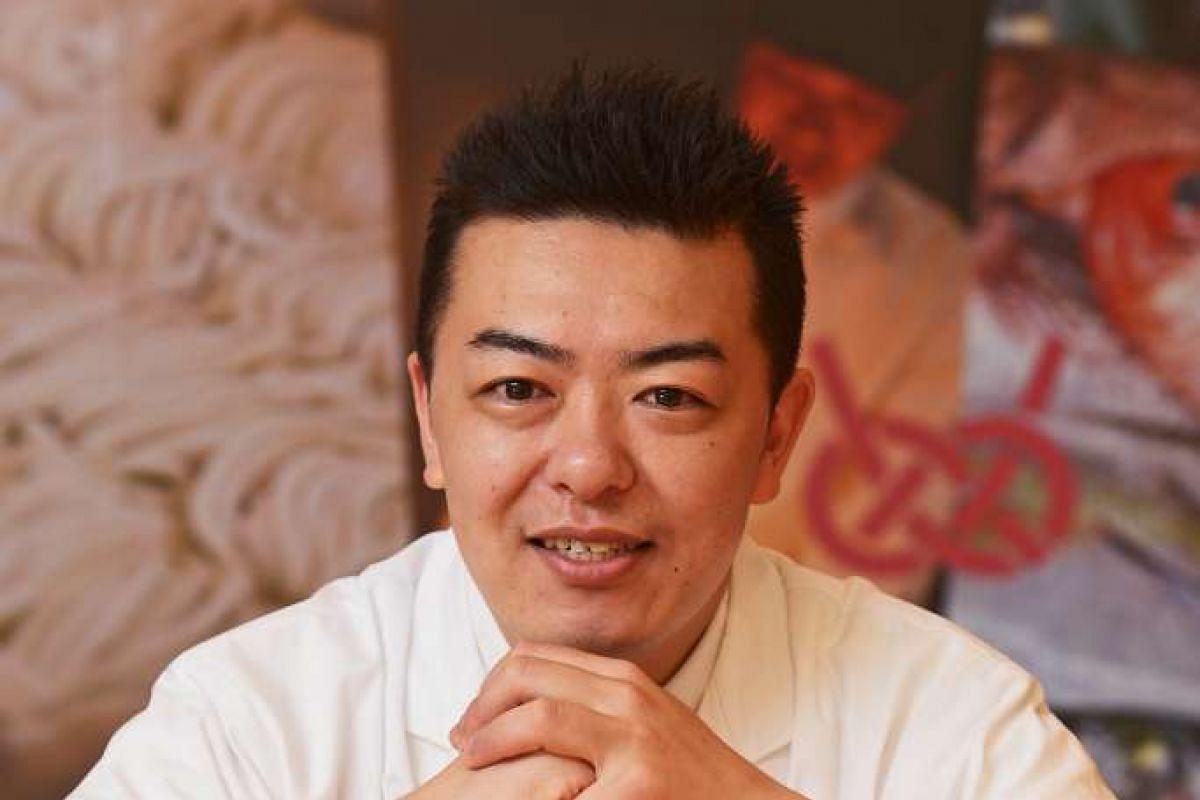 Sushi Takewaka's executive chef Eisaku Kawashima.