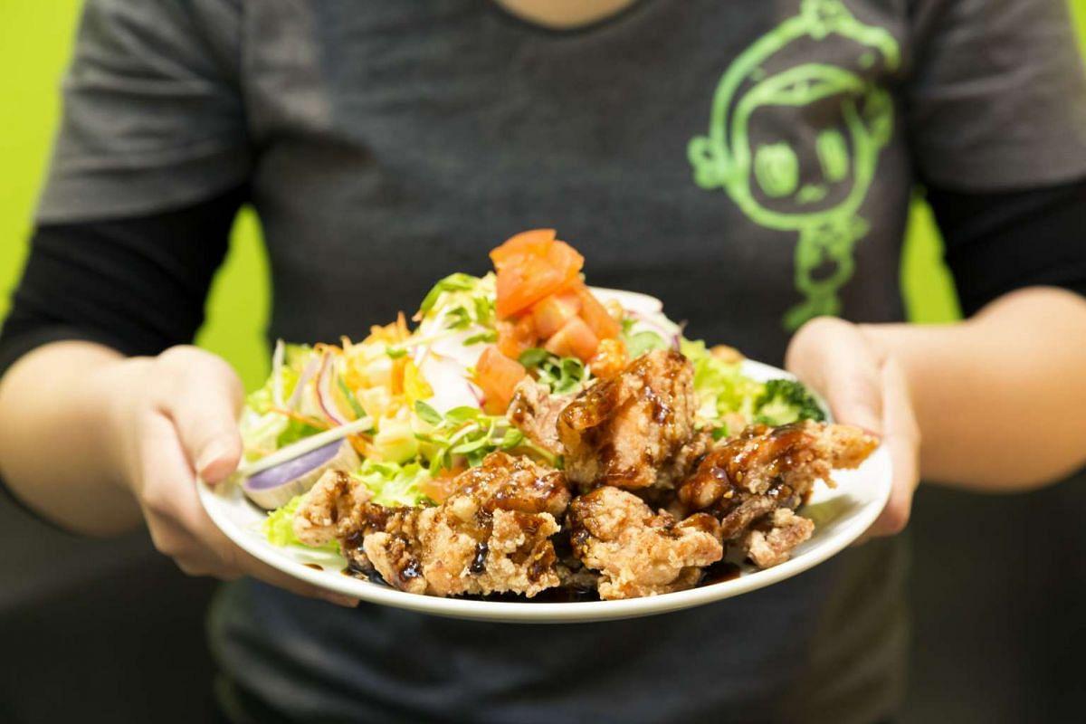 Rang Mang Shokudo serves Japanese-style fried chicken.