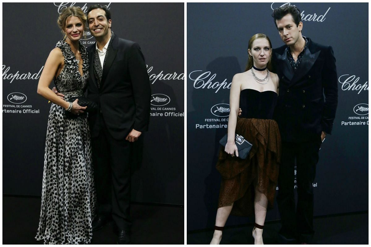From left: British actress Mischa Barton with Saudi cinema producer Mohammed Al Turki, and British DJ Mark Ronson with French model Josephine de la Baum.