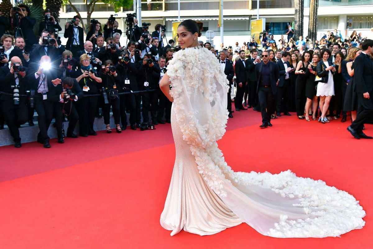 Indian actress Sonam Kapoor arrives for the screening of the film Loving at the 69th Cannes Film Festival, on May 16, 2016.
