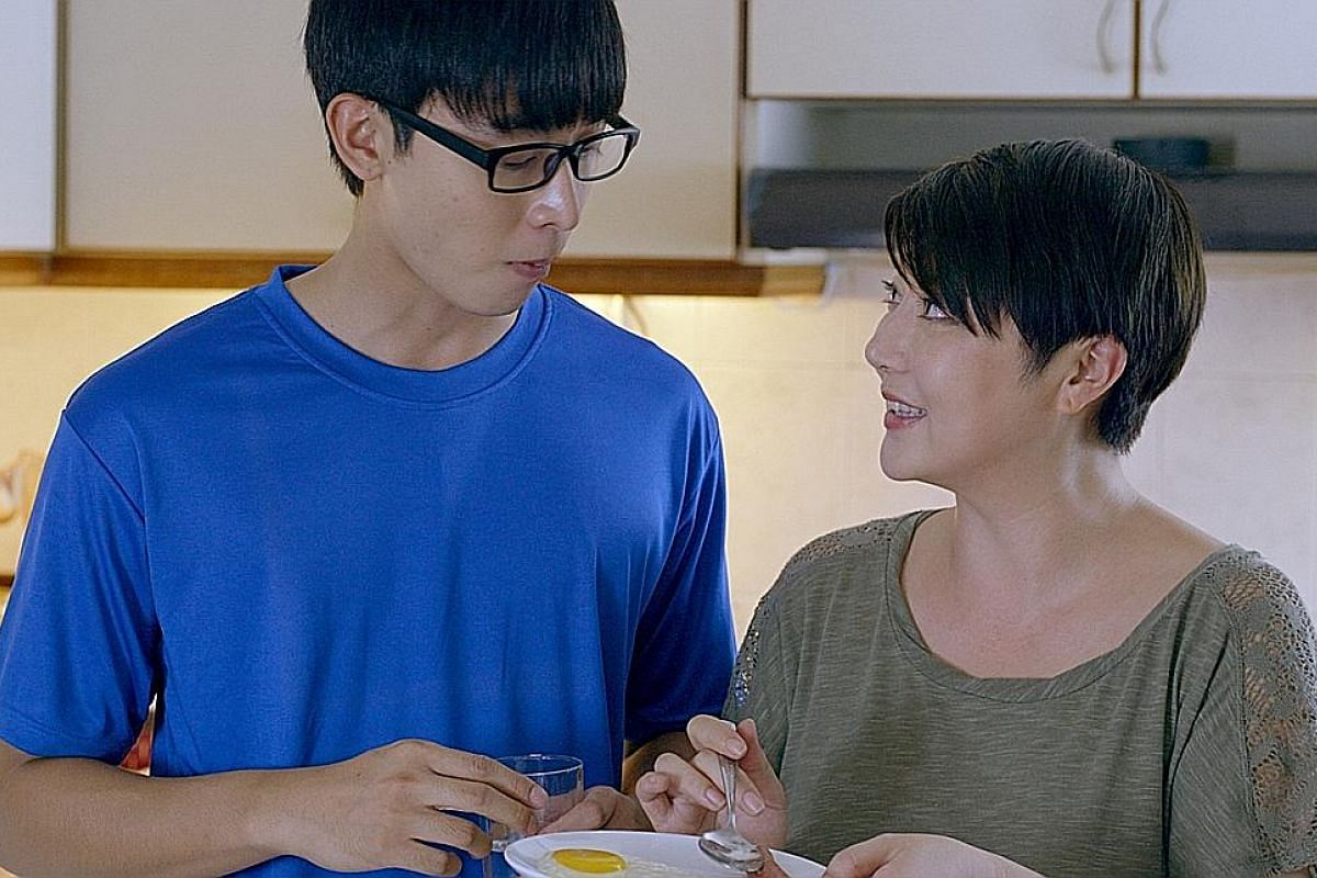 Singapore host Quan Yi Fong (with her daughter Eleanor Lee) and in the new movie, Young & Fabulous (above, with co-star Aloysius Pang).