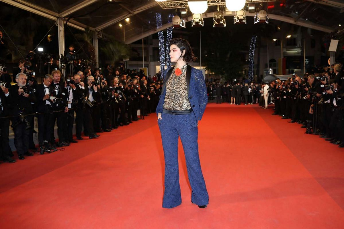 French actress and singer Stephanie Sokolinski aka Soko arriving on May 19, 2016 for the screening of the film It's Only The End Of The World (Juste La Fin Du Monde) at the 69th Cannes Film Festival.