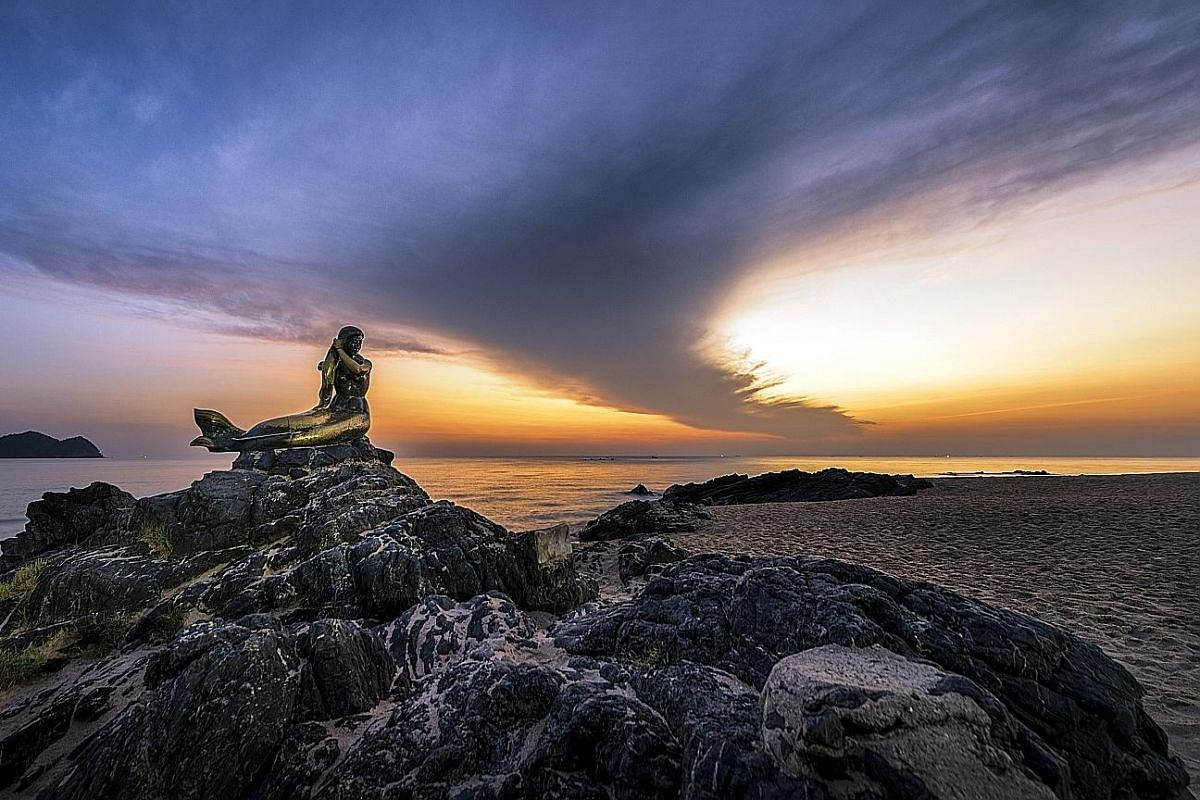 Asian Geographic Magazine editor Lim Wan Phing (above) suggests visiting the Mermaid Statue on Samila Beach in Songkhla, an hour's drive from Hatyai.